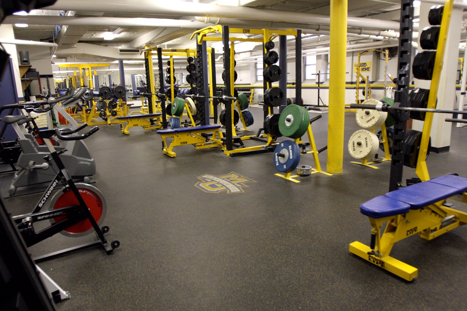 Marquette gym strength and conditioning weight room marquette